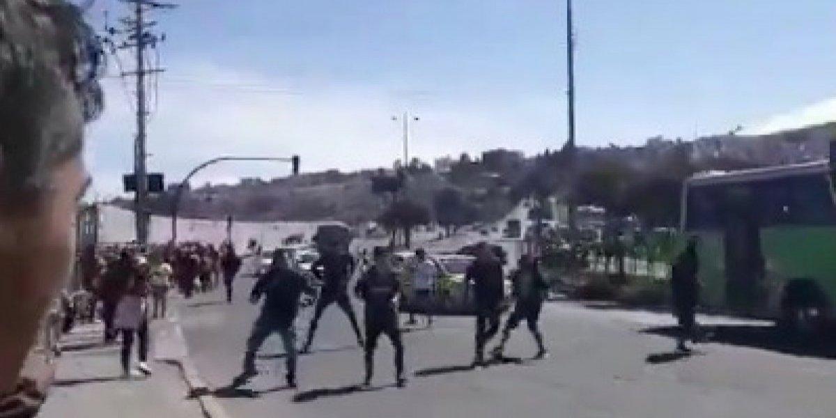 Se registran disturbios entre hinchas de Barcelona SC y Liga de Quito