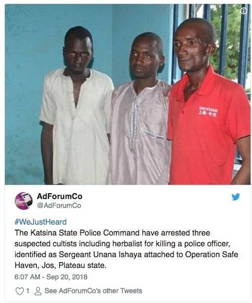 Sacaron los ojos a policía para hacer una capa