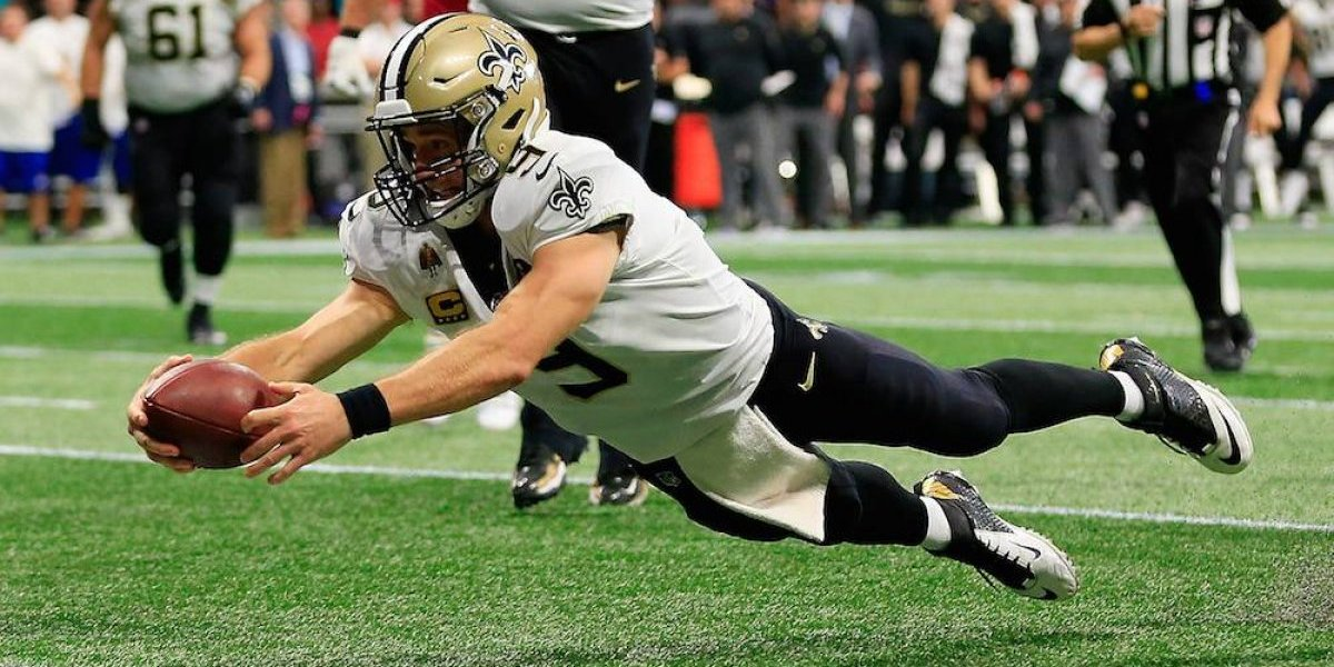 Drew Brees rompe récord de Favre y conduce victoria de Saints