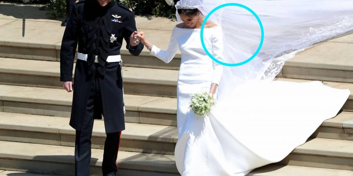 El velo de novia de Meghan Markle tenía algo que ella usó en su primera cita con Harry