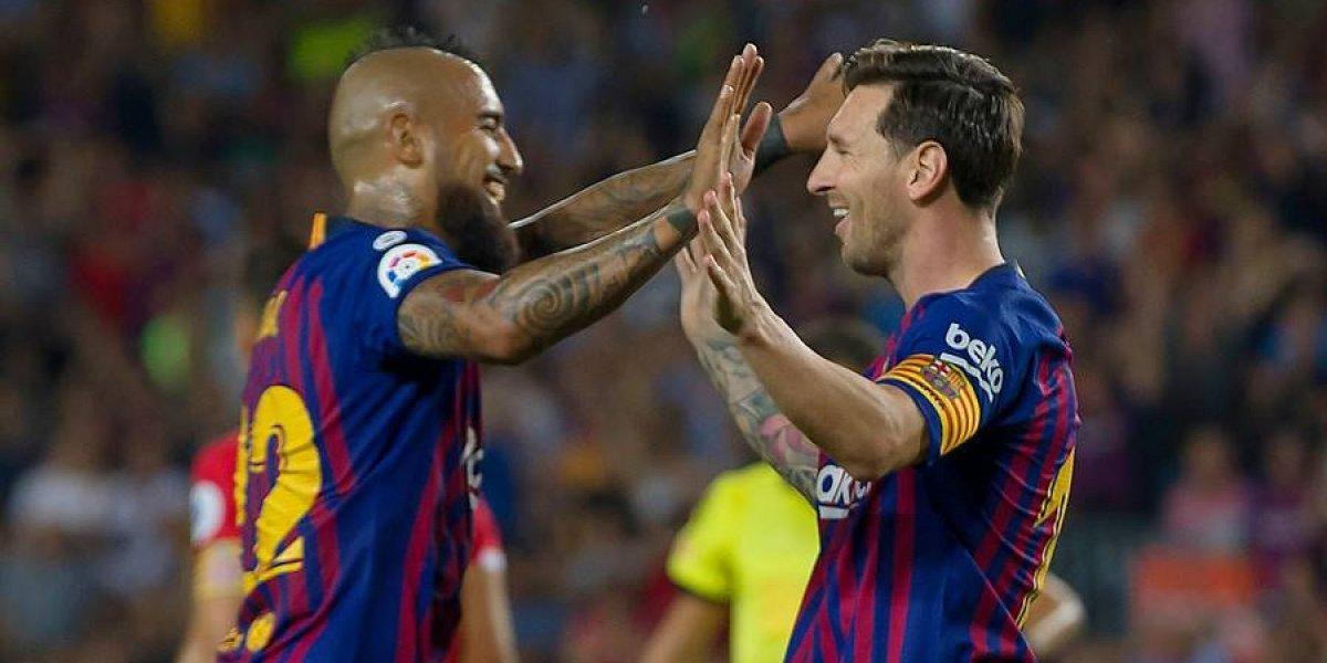"""Arturo Vidal tuvo un """"extraño"""" debut como titular en FC Barcelona"""