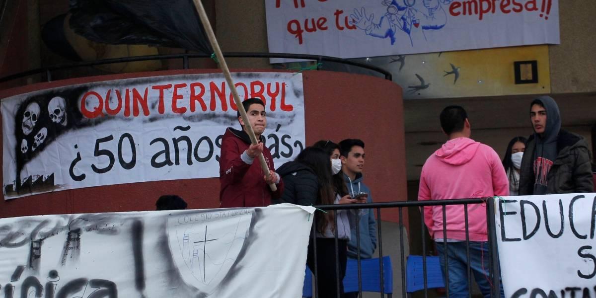 Inquietud en Quintero y Puchuncaví por retorno a clases este lunes tras nuevos casos personas intoxicadas