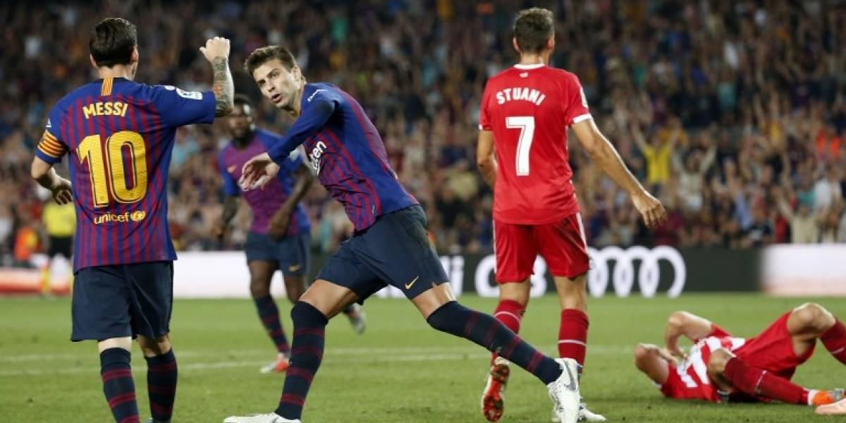 Con uno menos, el Barcelona rescata un empate ante el Girona