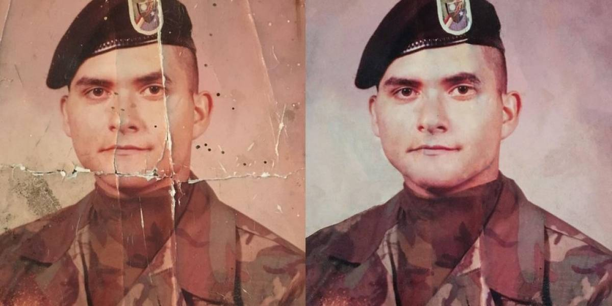 Internautas se mobilizam para restaurar foto danificada de militar americano a pedido da filha