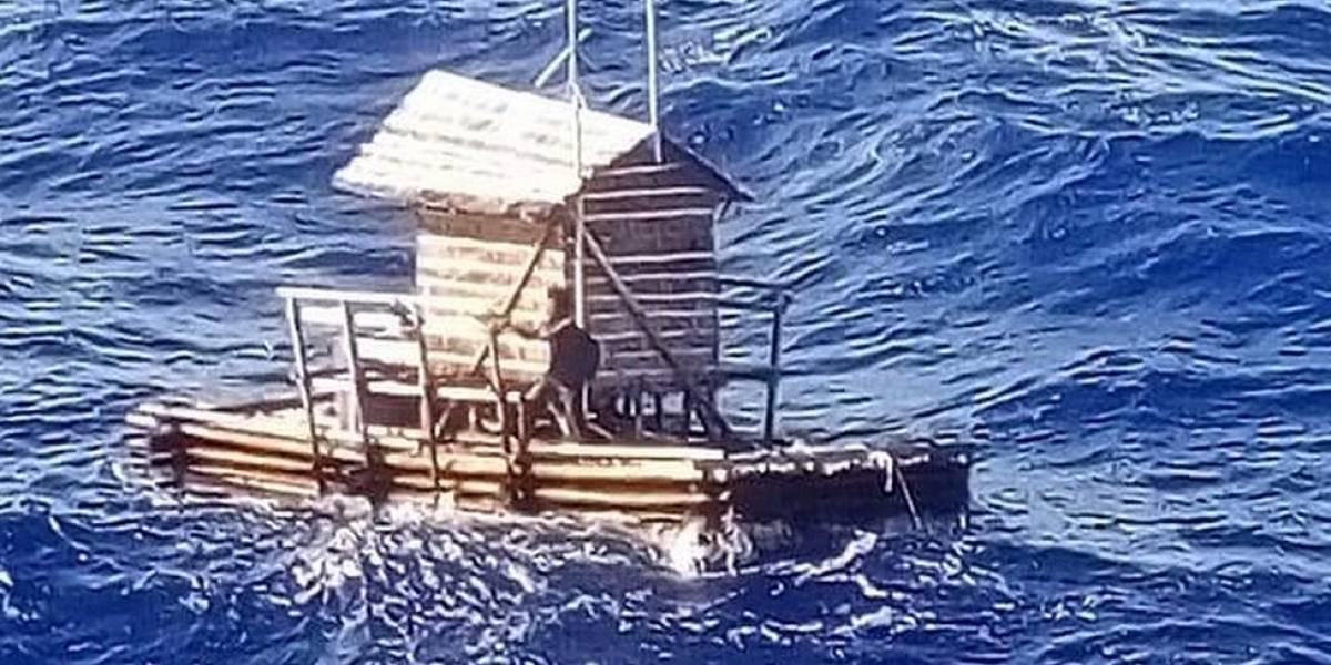 Jovem sobrevive 49 dias à deriva em mar aberto em cabana de pesca flutuante