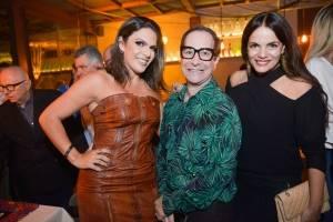 Letícia Rody, Sérgio Paulo Rabelo e Ana Paula Castro na inauguração badalada do restaurante Cosmô