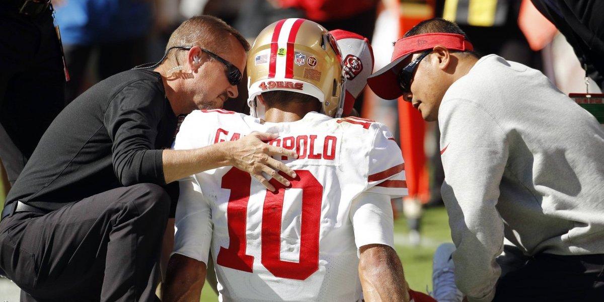Jimmy Garoppolo es baja con los 49ers por lesión