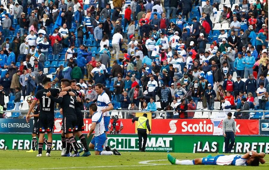 Colo Colo se impuso 1-0 ante la UC en el último choque entre ambos en San Carlos de Apoquindo / Foto: Agencia UNO