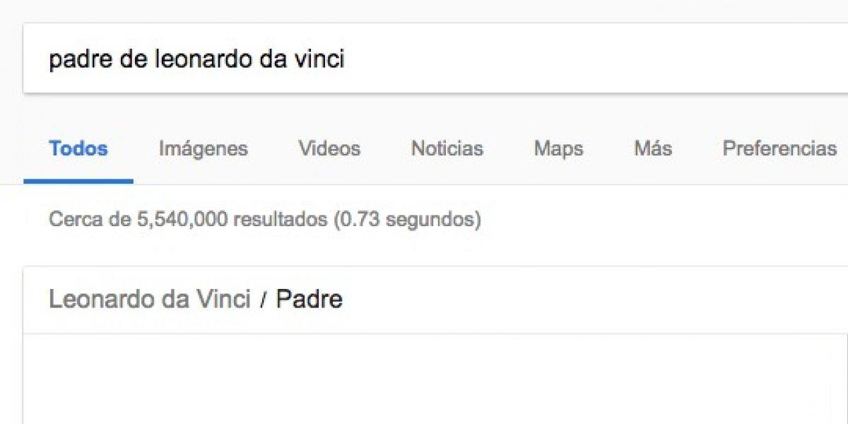 Padre de Leonardo da Vinci: la explicación de Google tras el insólito viral creado por chileno que la rompe en la web