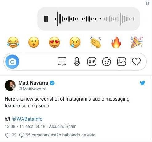 Las notas de voz llegarán a Instagram