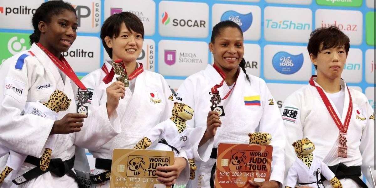 La judoca, Yuri Alvear, se colgó la medalla de bronce en el Mundial