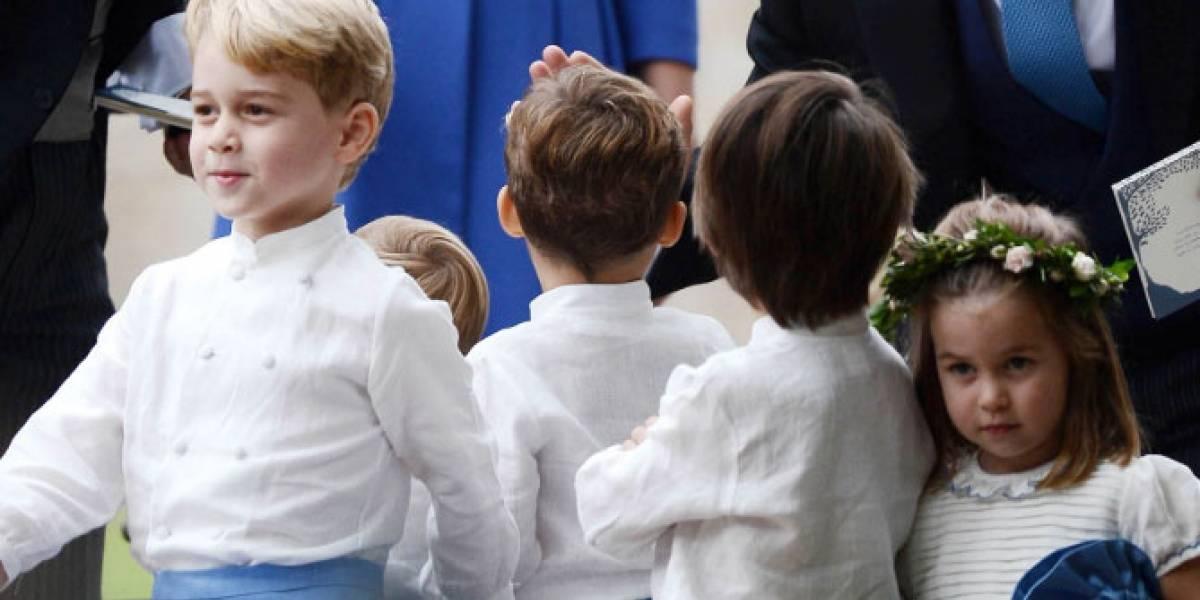 ¡Ternura total! George y Charlotte fueron los protagonistas de una boda a la que fueron invitados