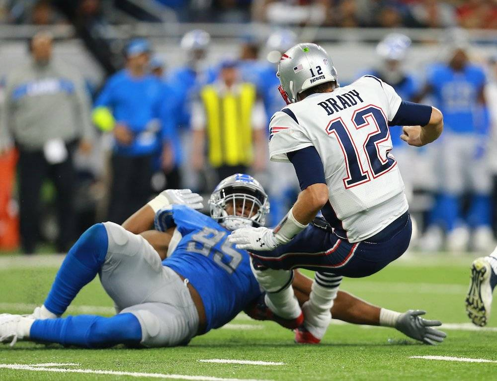 Detroit contuvo a Brady. / Getty Images