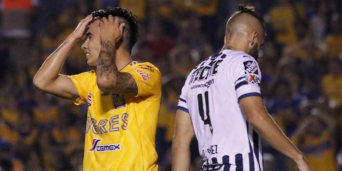 Tigres y Rayados dividen puntos en sombrío Clásico regio