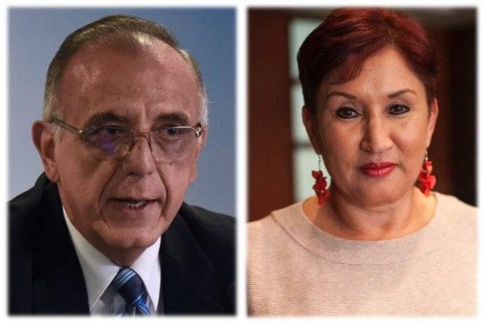 Iván Velásquez y Thelma Aldana. Foto: Publinews