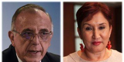 Iván Velásquez y Thelma Aldana.