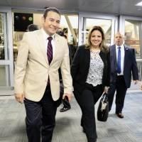 Jimmy Morales y Sandra Jovel llegan a Nueva York para participar en asamblea de la ONU