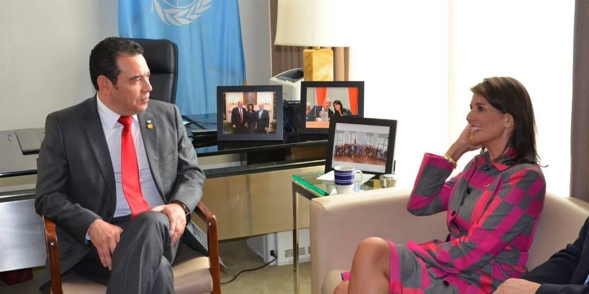En ONU, Haley y Morales hablan sobre la lucha contra la corrupción