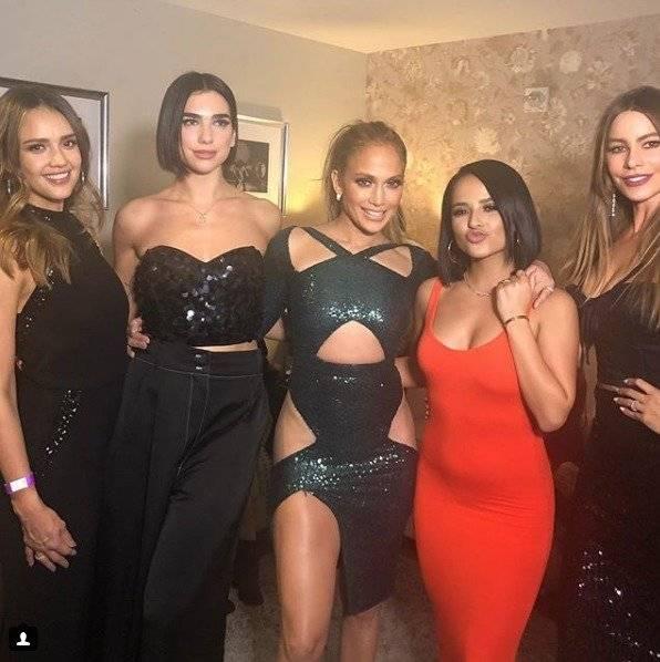 Las artistas Jessica Alba, Dua Lipa, Jennifer Lopez, Becky G y Sofía Vergara disfrutaron después del concierto de Jlo Instagram