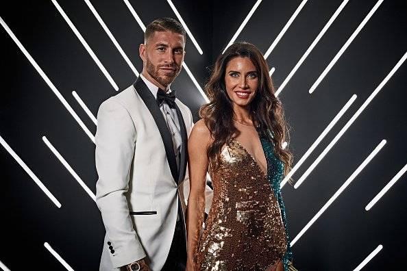 Sergio Ramos de España y Real Madrid y su esposa Pilar Rubio Getty