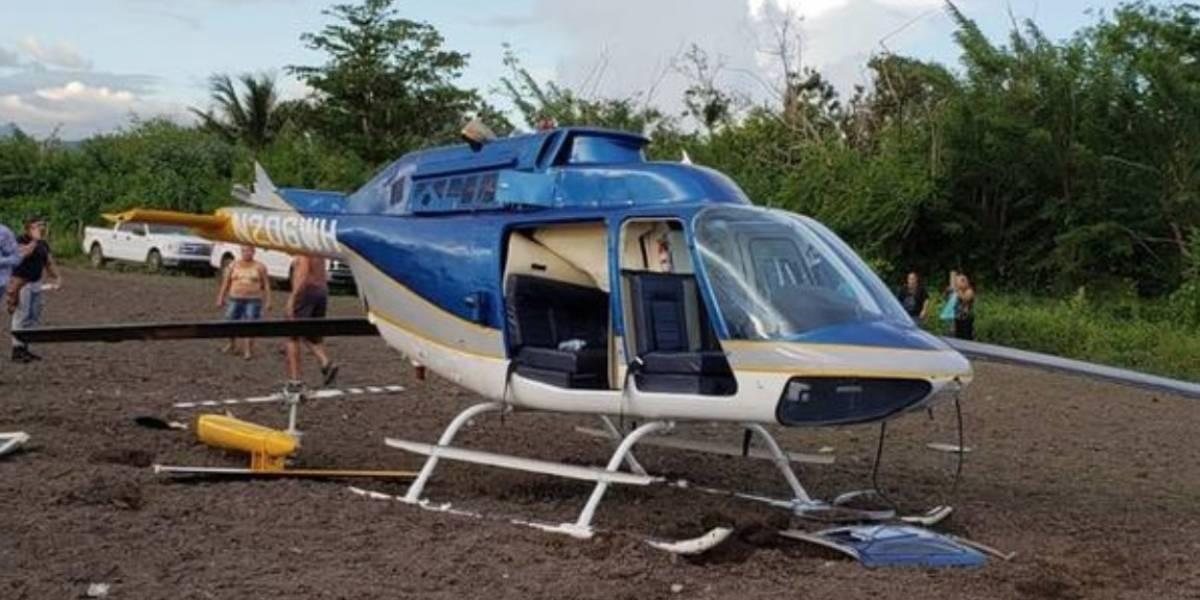 Cae helicóptero en Juana Díaz