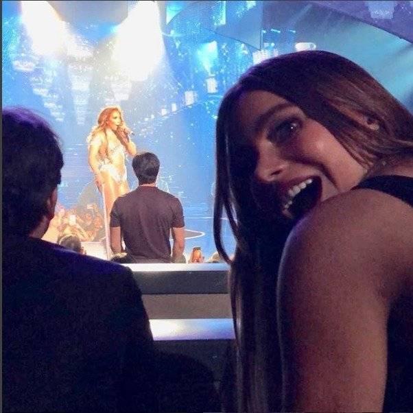 Sofía Vergara disfrutando del concierto de Jennifer López en las Vegas Instagram