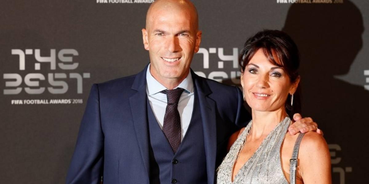 El rostro de Zidane luego de que Deschamps ganara el premio al mejor entrenador