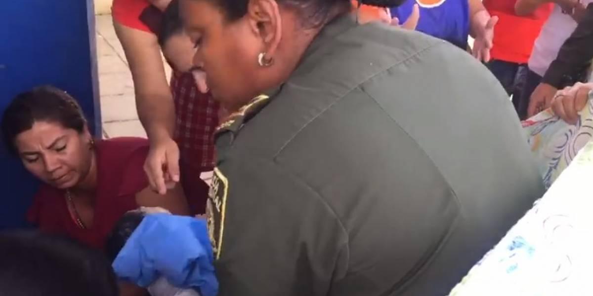 Subintendente de la Policía atendió el parto de una mujer que no alcanzó a llegar al hospital
