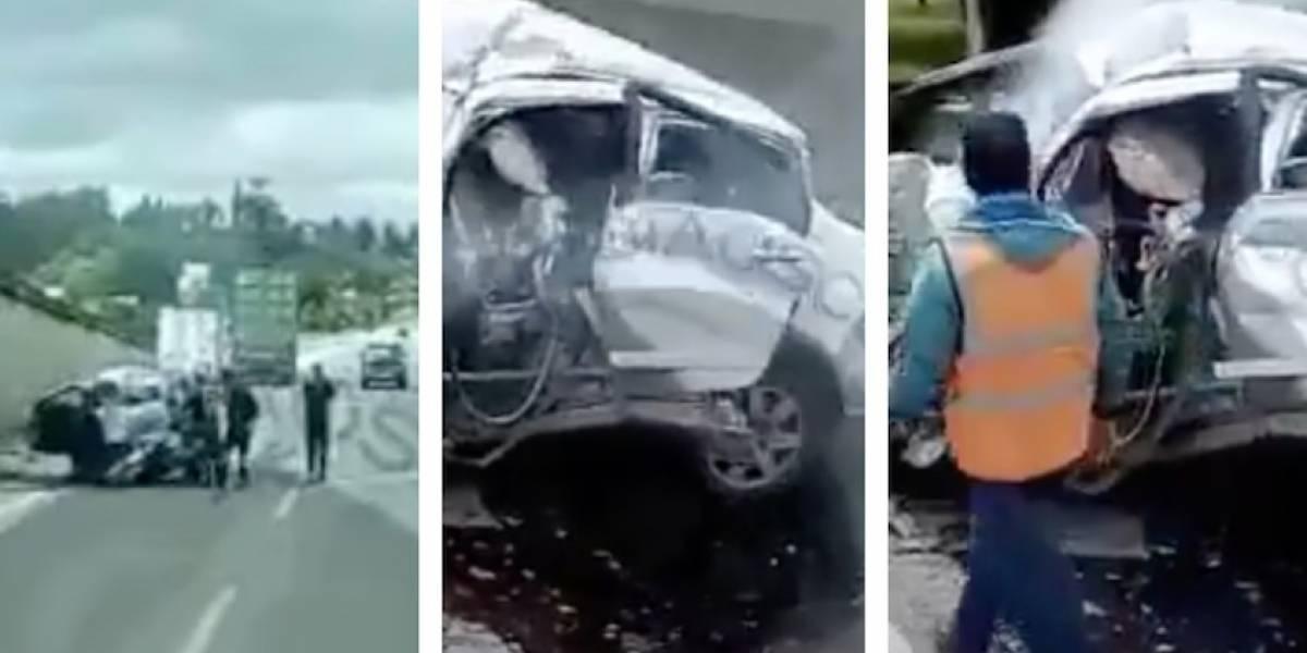 Video: trágico accidente en la Autopista Norte deja al menos una persona sin vida