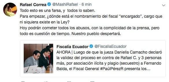 Pronunciamiento de Correa