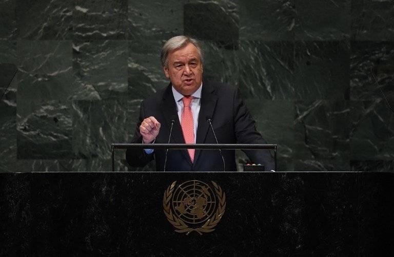 António Guterres habla ante la Asamblea General de la ONU