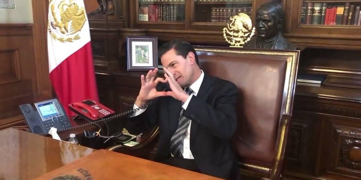 VIDEO: Peña Nieto le manda un 'corazón' de despedida al comediante Chumel Torres, un duro crítico de su gobierno