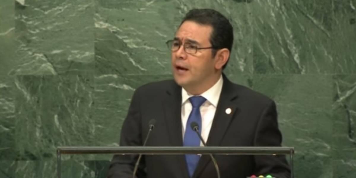 Antes de ser señalado, Morales elogió eficiencia de CICIG en asamblea de ONU de 2016