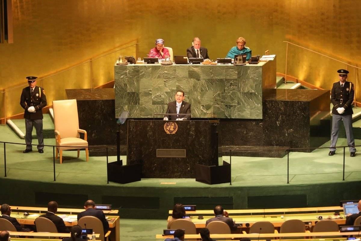 Jimmy Morales en la ONU