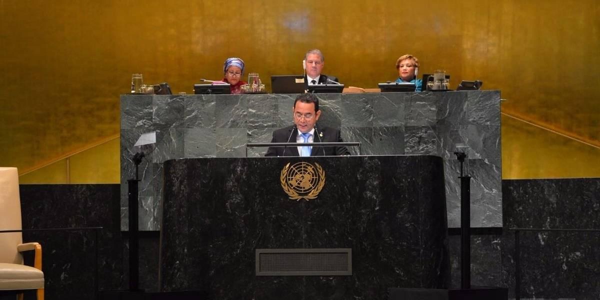 Morales señala a CICIG en su discurso en la ONU