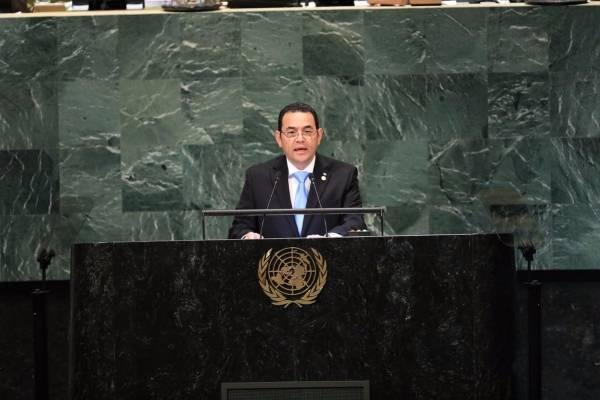 Jimmy Morales en ONU