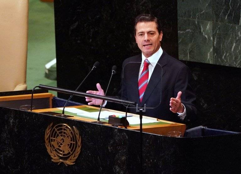 Enrique Peña Nieto ante la ONU