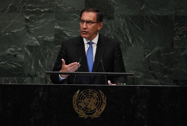 Martín Vizcarra ante la ONU