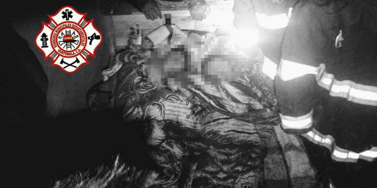 Dos niños mueren soterrados por las lluvias en Concepción Tutuapa