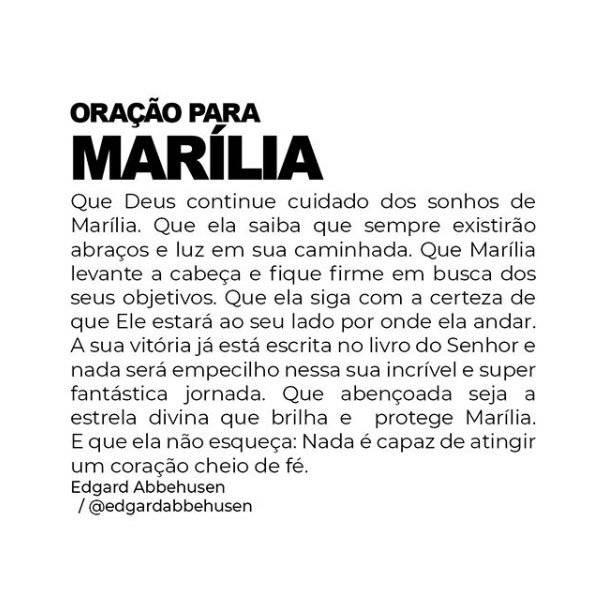 Oração para Marília