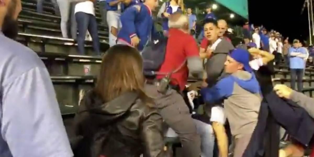 VIDEO: Se desata pelea racista entre aficionados de Grandes Ligas