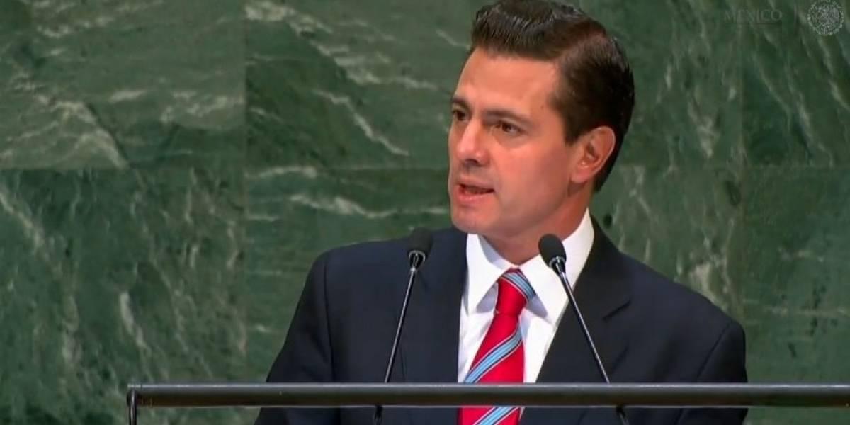 Peña Nieto pide ante la ONU combatir urgentemente el tráfico de armas