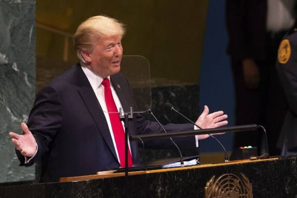 Donald Trump habla ante la ONU
