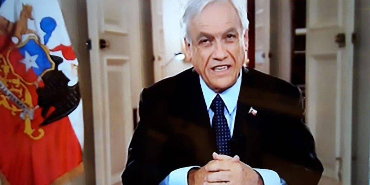 Ejercicio fiscal 2019 aumentará 3,2 %: Piñera anunció que reforzará a capacidad operativa de Carabineros