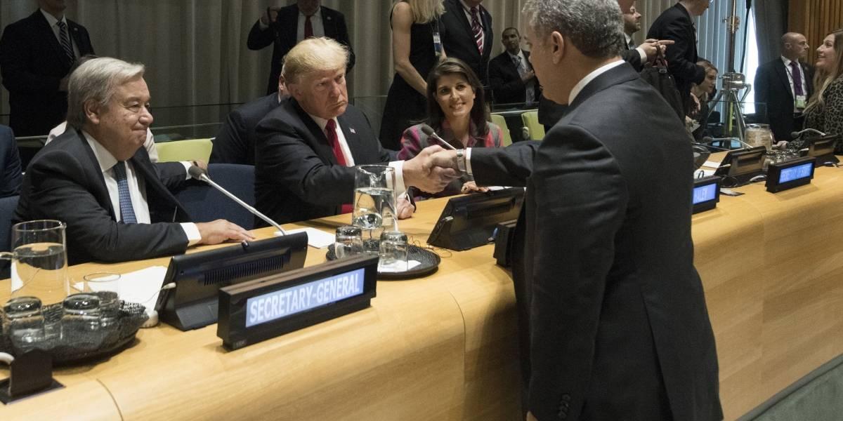 El chiste de Donald Trump a Iván Duque en la ONU que resultó siendo una advertencia muy seria
