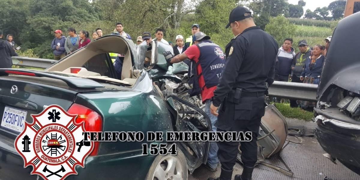 Dos muertos y dos heridos tras accidente de tránsito en ruta Interamericana