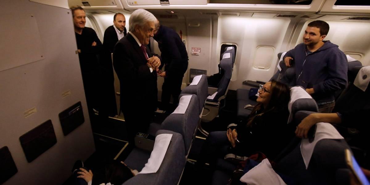 Piñera llega a Nueva York para participar en asamblea de Naciones Unidas: sostendrá reuniones con Trudeau y Bill Clinton