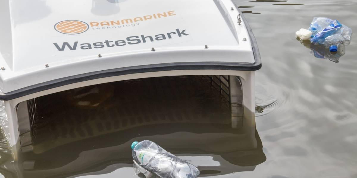Este pequeño drone está listo para 'comerse' la basura de los océanos