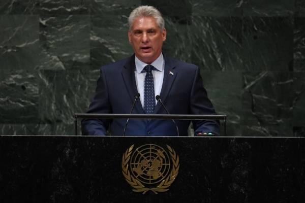 Miguel Díaz-Canel ante la ONU