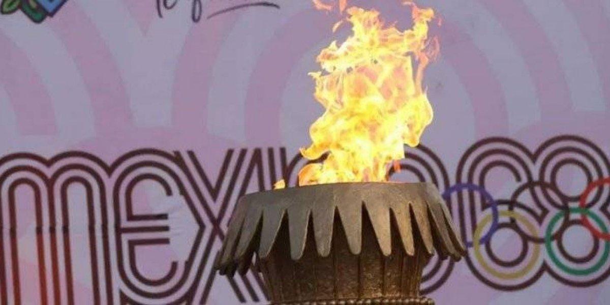 Fuego olímpico llega a México para conmemorar 50 años de los Juegos Olímpicos